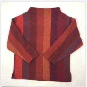 Womens Norwegian Sweater Handwoven Colorful Wool M